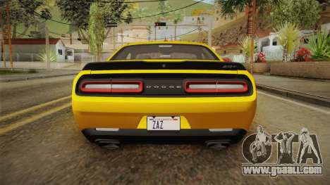 Dodge Challenger 2017 Demon for GTA San Andreas bottom view