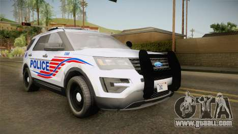 Ford Explorer 2016 Police for GTA San Andreas back left view