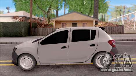 Dacia Sandero 2013 for GTA San Andreas left view