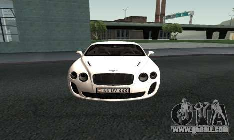 Bentley Continental GT Armenian for GTA San Andreas right view