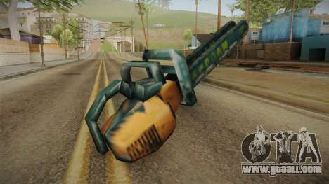 Motosierra Doble Hoja Chainsaw for GTA San Andreas third screenshot