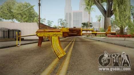 SFPH Playpark - Gold AK47 for GTA San Andreas