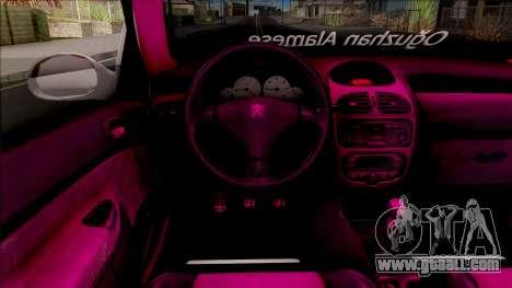 Peugeot 206 for GTA San Andreas inner view