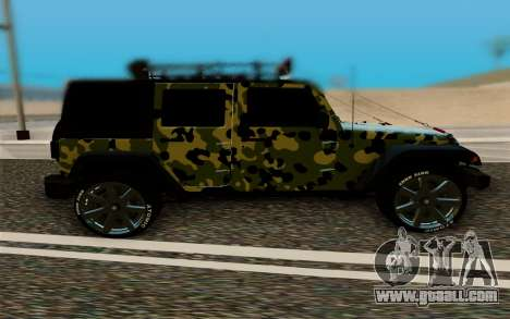 Jeep Wrangler for GTA San Andreas left view