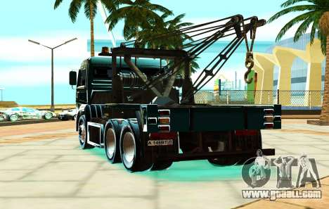 KamAZ 6520 V8 TURBO Tow truck for GTA San Andreas back left view