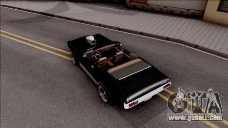 Ford Gran Torino Cabrio 1972 for GTA San Andreas back view