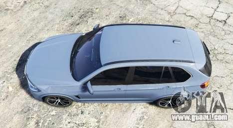 GTA 5 BMW X5 M (F85) 2016 [replace] back view