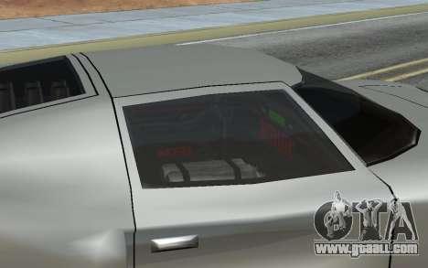 MFR Bullet Legendary Racer for GTA San Andreas inner view