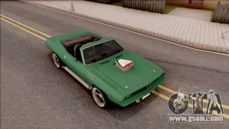 Plymouth Hemi Cuda 426 Cabrio 1971 for GTA San Andreas right view