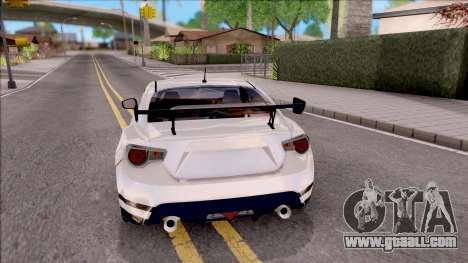 Toyota GT86 Tofu Shop for GTA San Andreas back left view