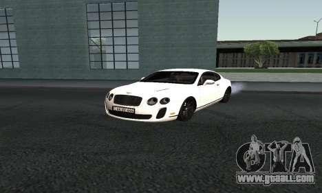 Bentley Continental GT Armenian for GTA San Andreas back left view