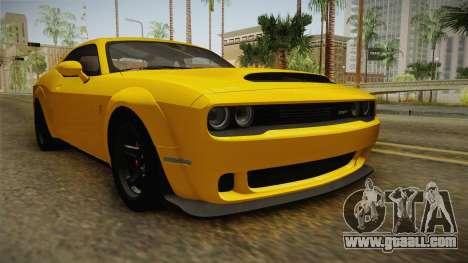 Dodge Challenger 2017 Demon for GTA San Andreas back left view