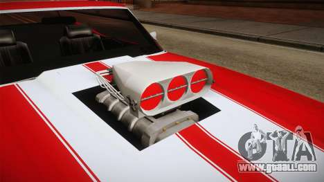 Chevrolet Chevelle SS Cabrio 1970 for GTA San Andreas inner view
