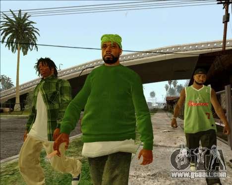 Grove Street Family HQ Skins for GTA San Andreas
