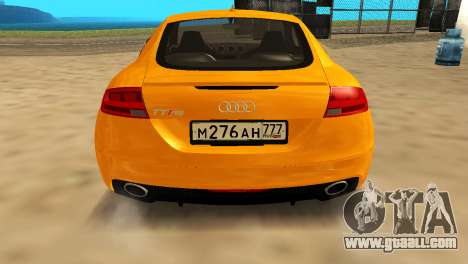 Audi TT RS Afonya TV for GTA San Andreas back left view