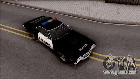 Ford Gran Torino Police LVPD 1972 v3 for GTA San Andreas right view
