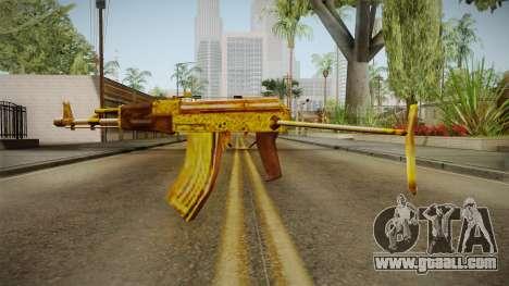 SFPH Playpark - Gold AK47 for GTA San Andreas second screenshot