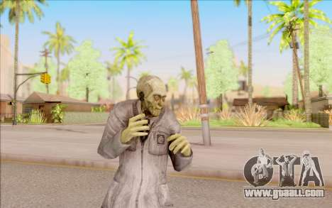 Zombie scientist from S. T. A. L. K. E. R. for GTA San Andreas fifth screenshot