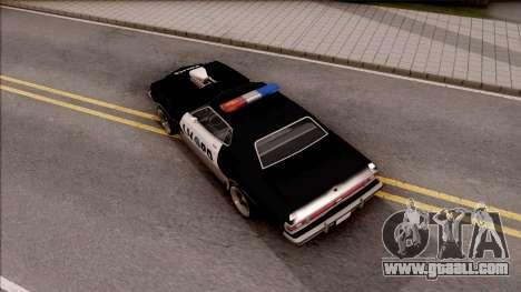 Ford Gran Torino Police LVPD 1975 v3 for GTA San Andreas back view