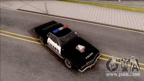 Ford Gran Torino Police LVPD 1975 v3 for GTA San Andreas right view