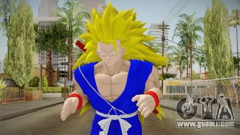 Goku Original DB Gi Blue v5 for GTA San Andreas