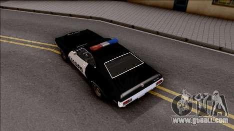 Ford Gran Torino Police LVPD 1972 v3 for GTA San Andreas back view