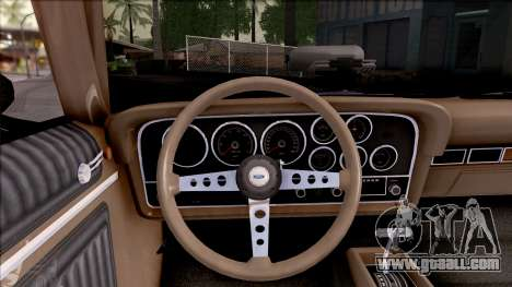 Ford Gran Torino Cabrio 1972 for GTA San Andreas inner view