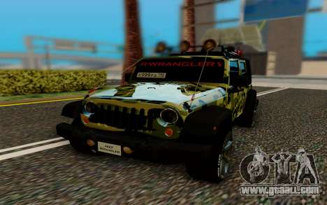 Jeep Wrangler for GTA San Andreas right view