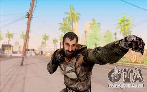 Vano of S. T. A. L. K. E. R. in overalls SEVA for GTA San Andreas sixth screenshot