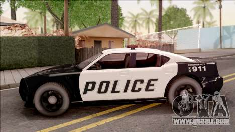 Dodge Charger Police Cruiser Lowest Poly for GTA San Andreas left view