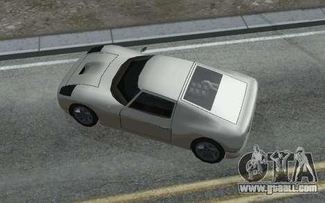 MFR Bullet Legendary Racer for GTA San Andreas back view