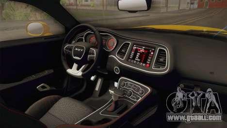 Dodge Challenger 2017 Demon for GTA San Andreas inner view