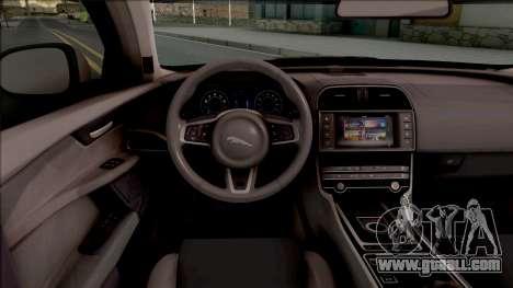 Jaguar XE-S 2015 for GTA San Andreas inner view