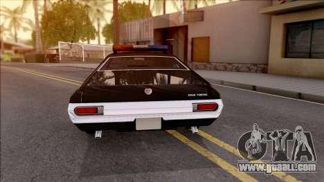 Ford Gran Torino Police LVPD 1972 v3 for GTA San Andreas back left view