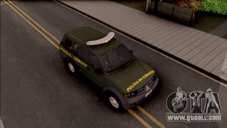 Mitsubishi Pajero Army Police of Brazil for GTA San Andreas right view