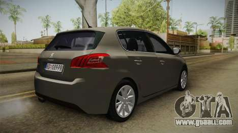 Peugeot 308 2017 for GTA San Andreas right view