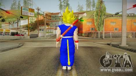 Goku Original DB Gi Blue v4 for GTA San Andreas third screenshot