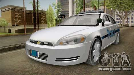 Chevrolet Impala 2011 Police for GTA San Andreas back left view