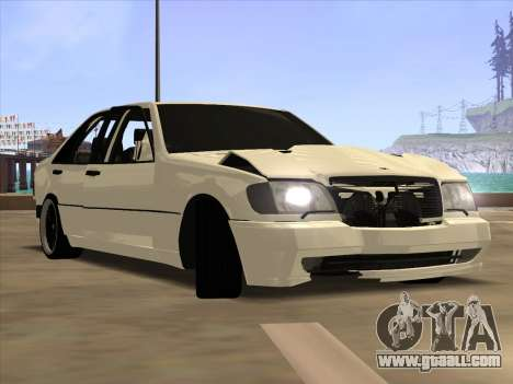 Mercedes-Benz S63 Brabus for GTA San Andreas back view