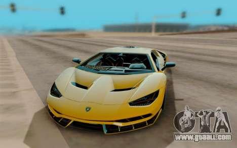 Lamborghini Centenario for GTA San Andreas back view