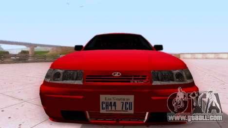 VAZ 2112 SA Plates for GTA San Andreas back view