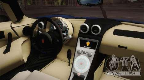 Koenigsegg Agera RS v1 for GTA San Andreas inner view