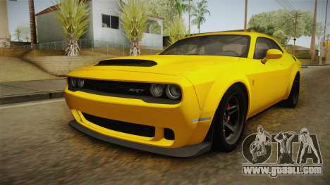 Dodge Challenger 2017 Demon for GTA San Andreas