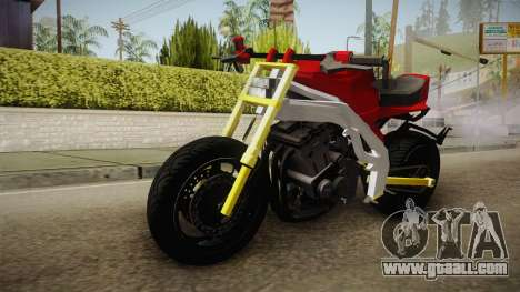 Honda CBR 1100CC Street Fighter Cipher for GTA San Andreas back left view