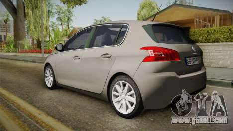 Peugeot 308 2017 for GTA San Andreas left view