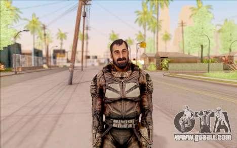 Vano of S. T. A. L. K. E. R. in overalls SEVA for GTA San Andreas second screenshot