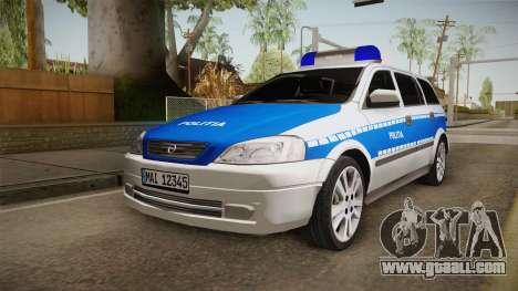 Opel Astra G Politia Romana for GTA San Andreas back left view