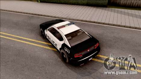Dodge Charger Police Cruiser Lowest Poly for GTA San Andreas back view
