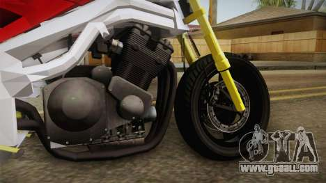Honda CBR 1100CC Street Fighter Cipher for GTA San Andreas back view