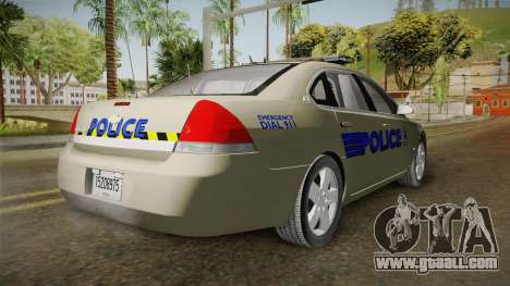 Chevrolet Impala Police for GTA San Andreas